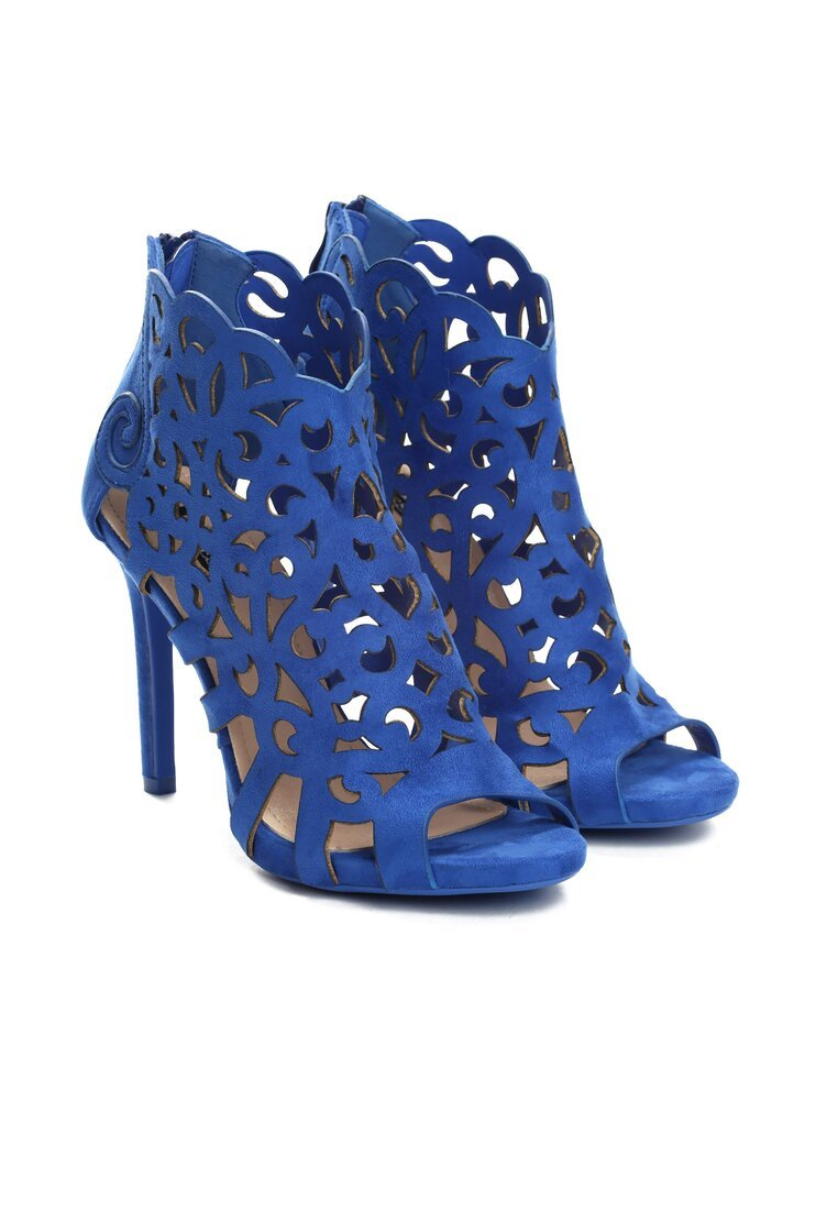 Niebieskie Sandały Holey
