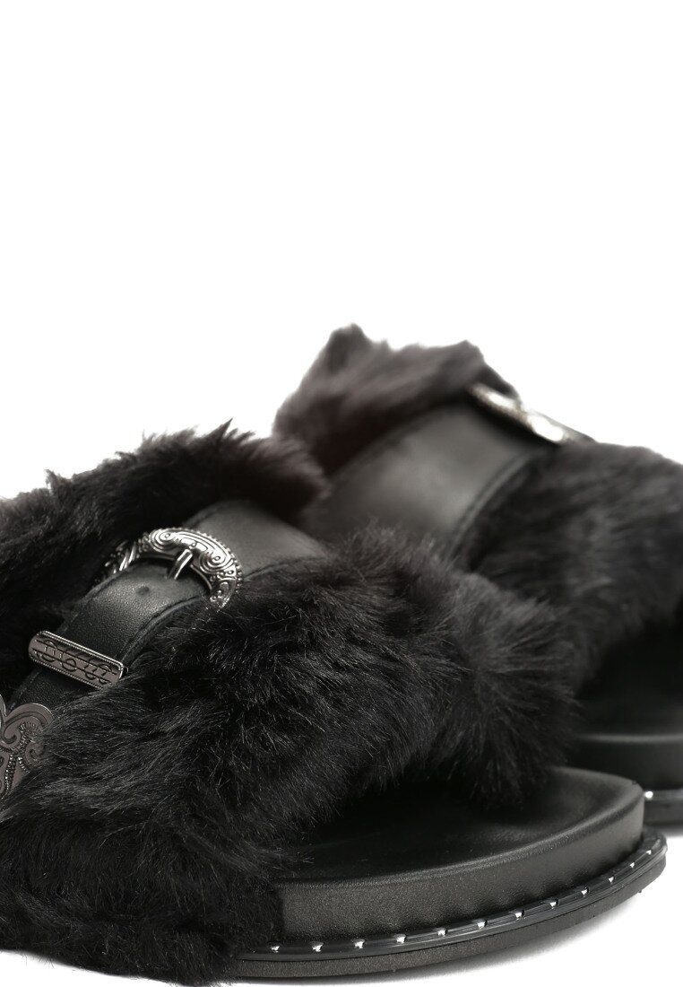 Czarne Klapki Primrose