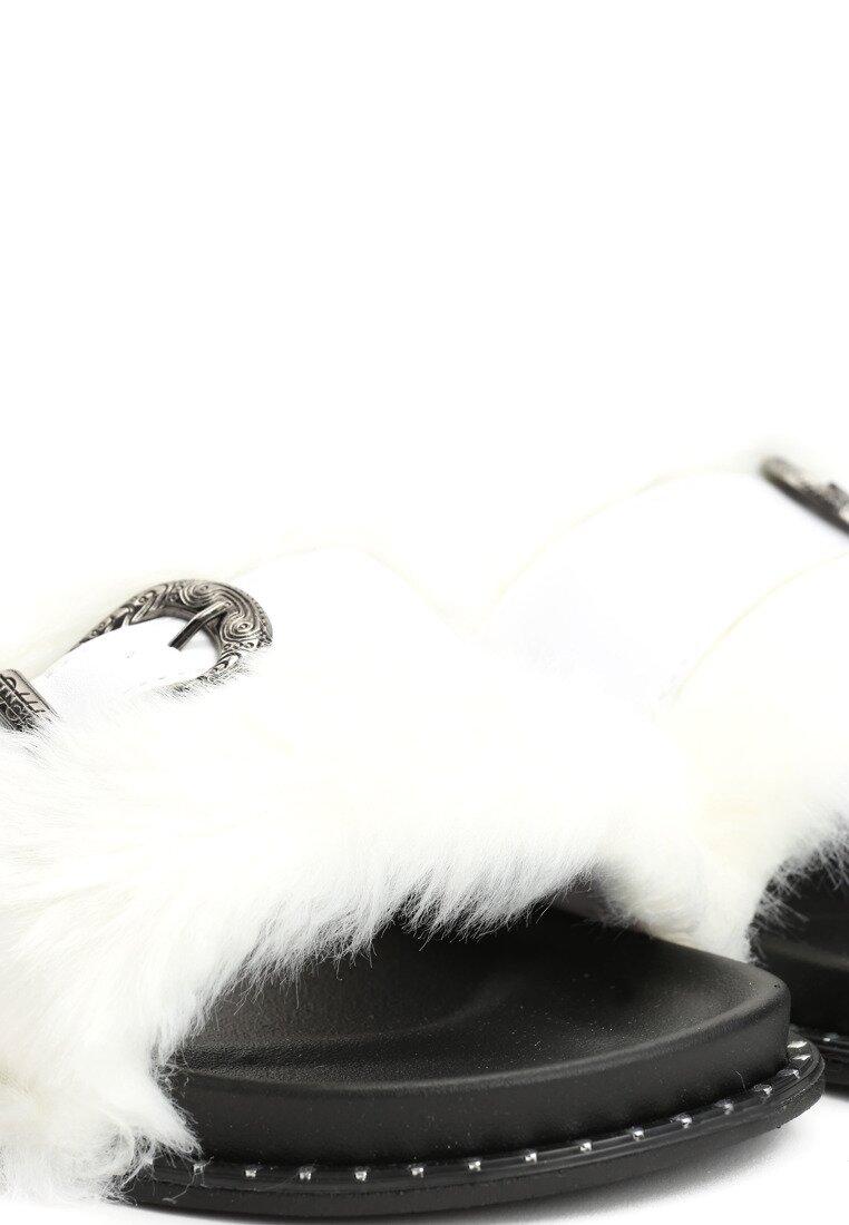 Białe Klapki Primrose