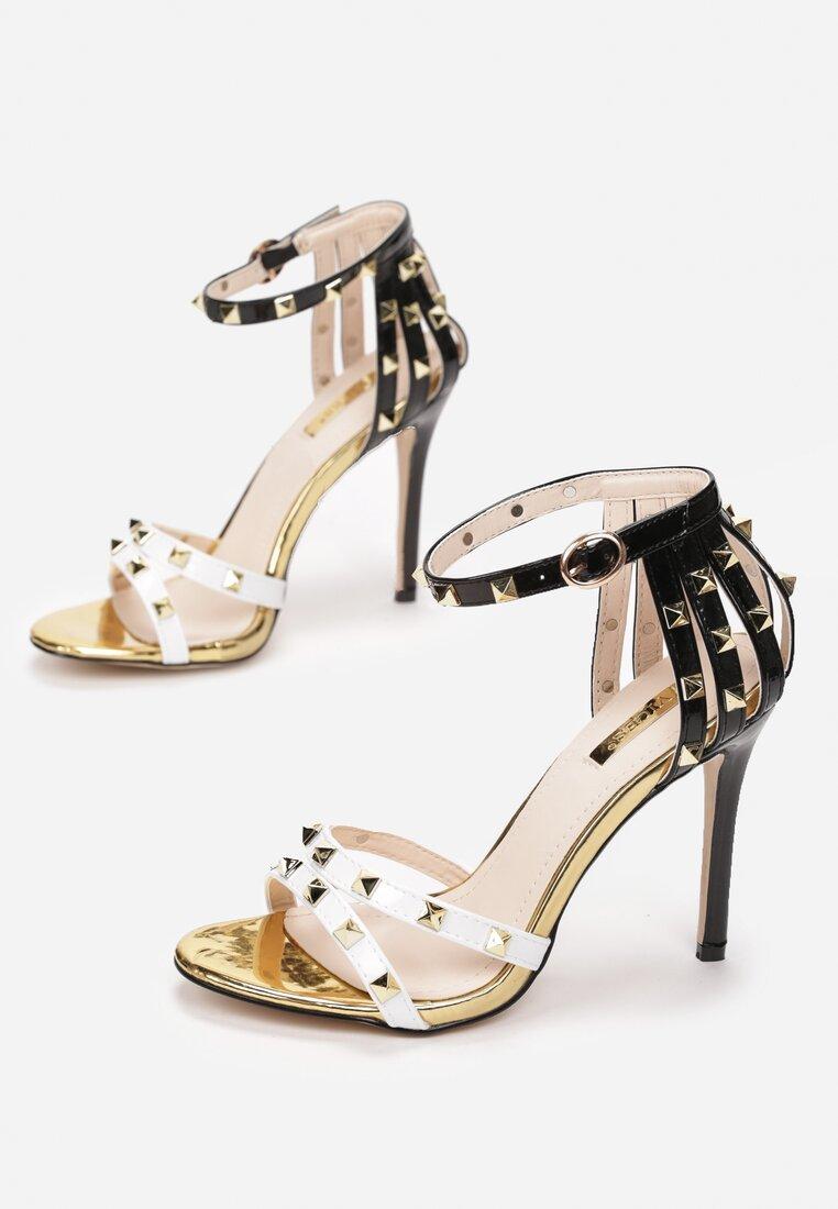 Biało-Czarne Sandały Exemplary