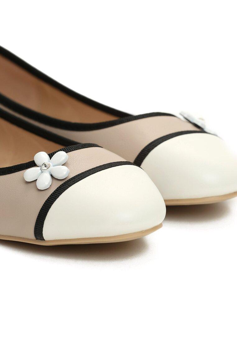 Beżowe Balerinki White Daisy