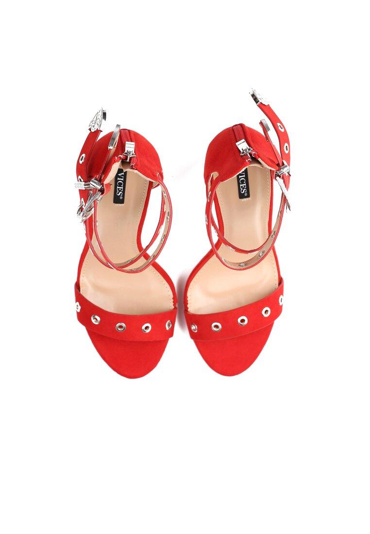 Czerwone Sandały French Kiss