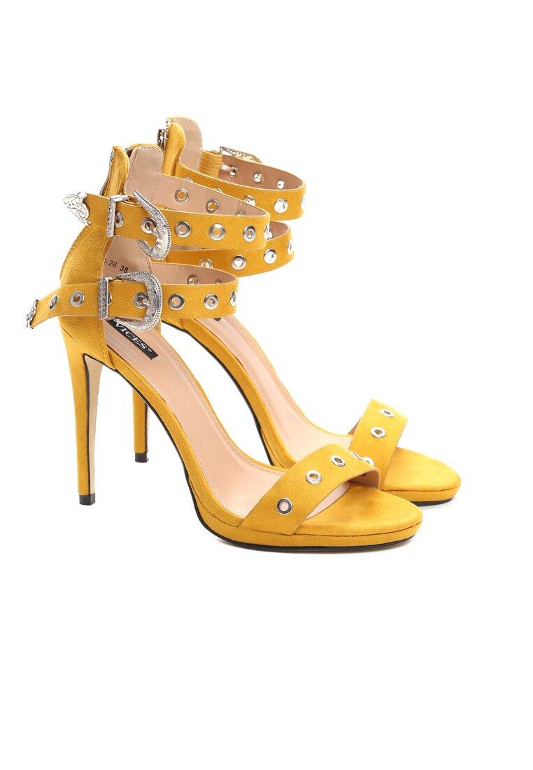 Żółte Sandały French Kiss