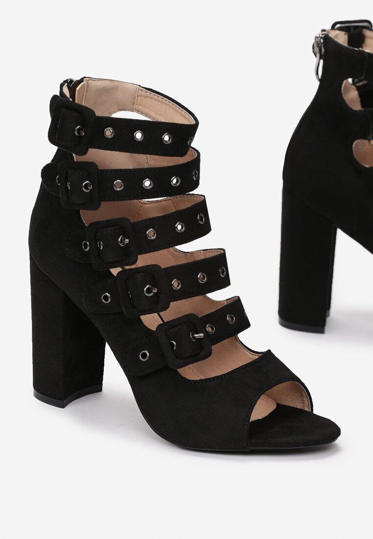 Czarne Sandały Handyman
