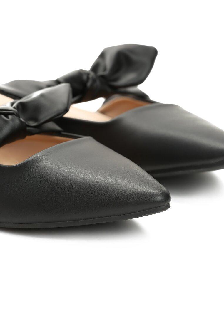 Czarne Klapki Elegant Zinnia