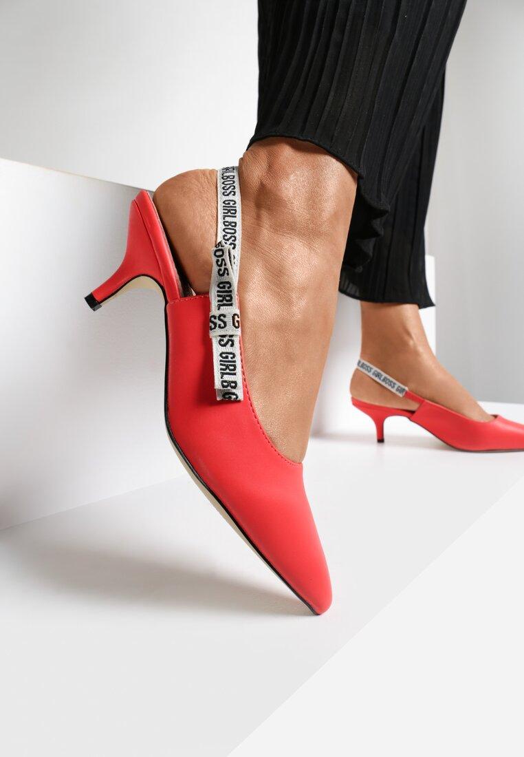 Czerwone Sandały Electric Feel