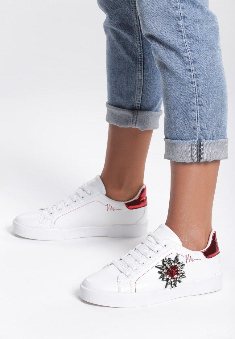 Biało-Czerwone Buty Sportowe Citrine