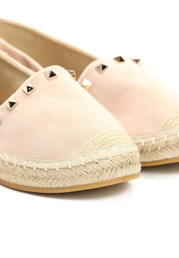 Jasnoróżowe Espadryle We're in Love