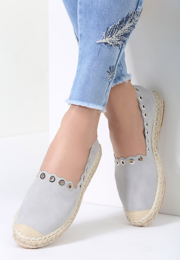 Szare Espadryle This Is Love