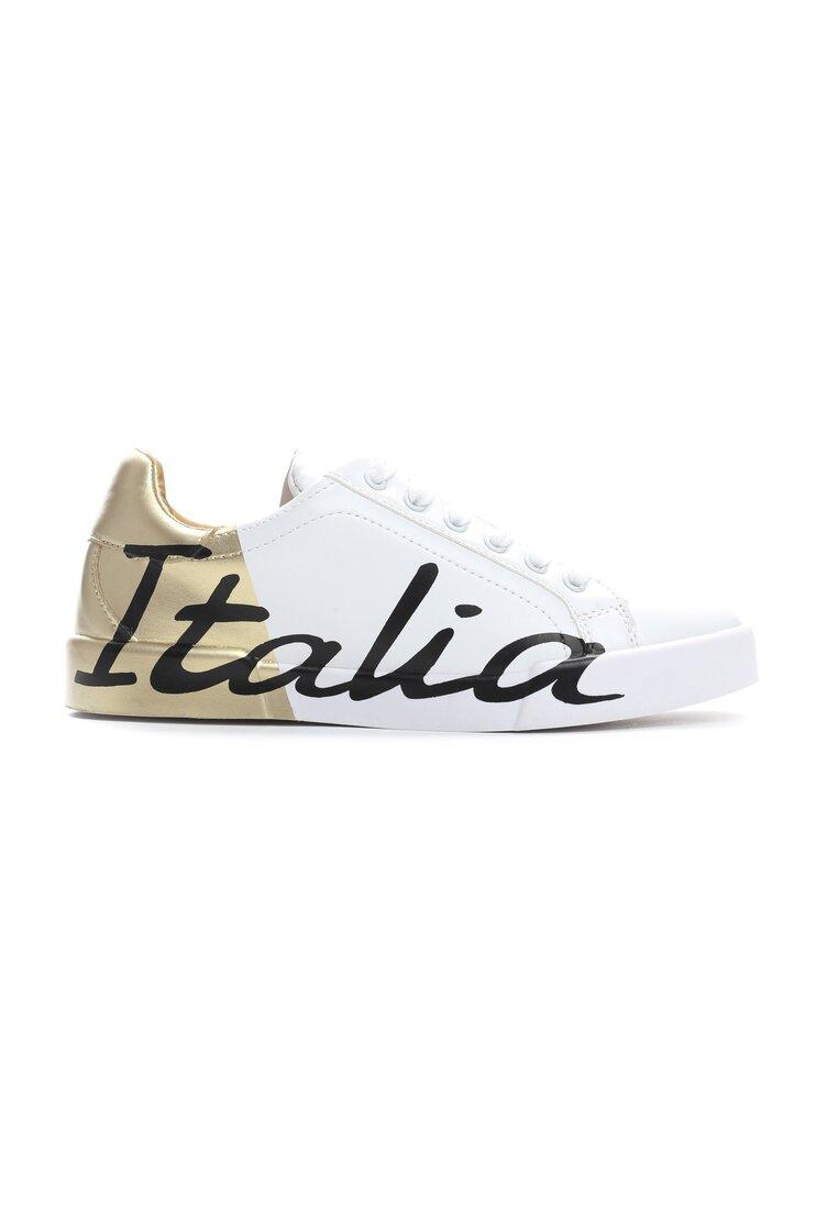 Biało-Złote Buty Sportowe Hashtag