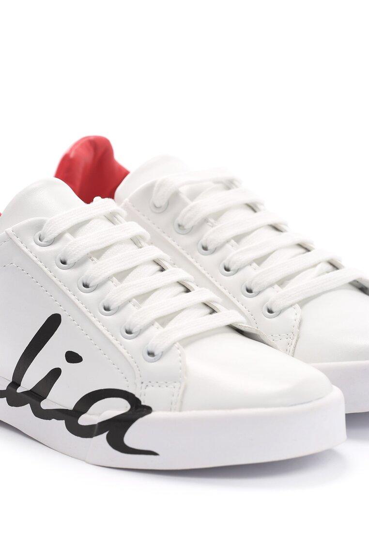 Biało-Czerwone Buty Sportowe Hashtag