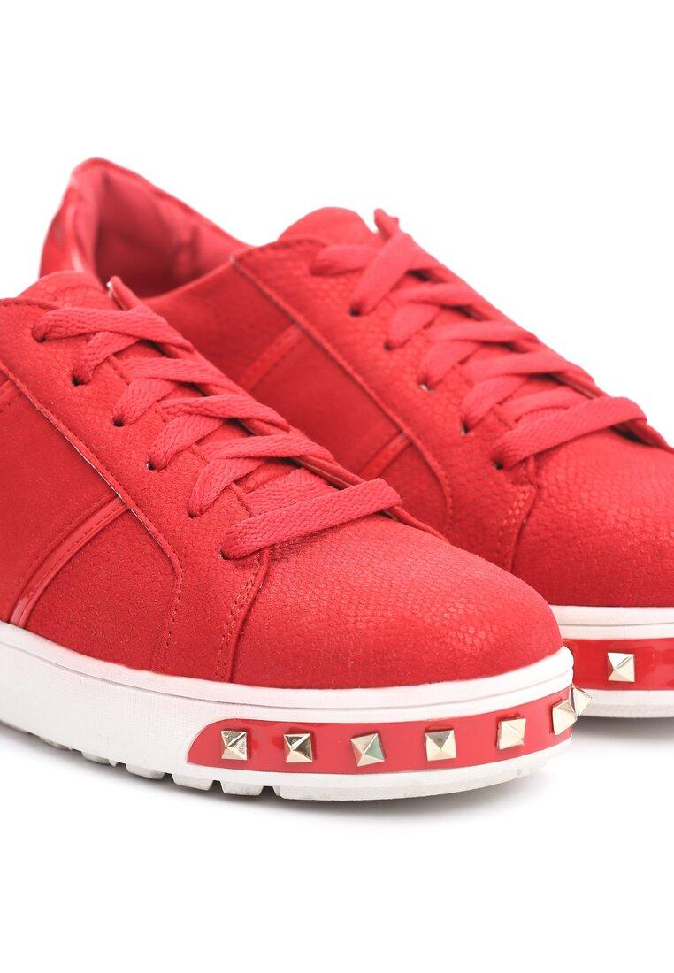 Czerwone Buty Sportowe Amor De Mi Vida