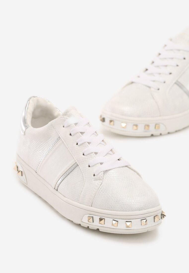 Białe Buty Sportowe Amor De Mi Vida