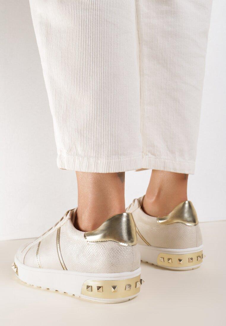 Złote Buty Sportowe Amor De Mi Vida