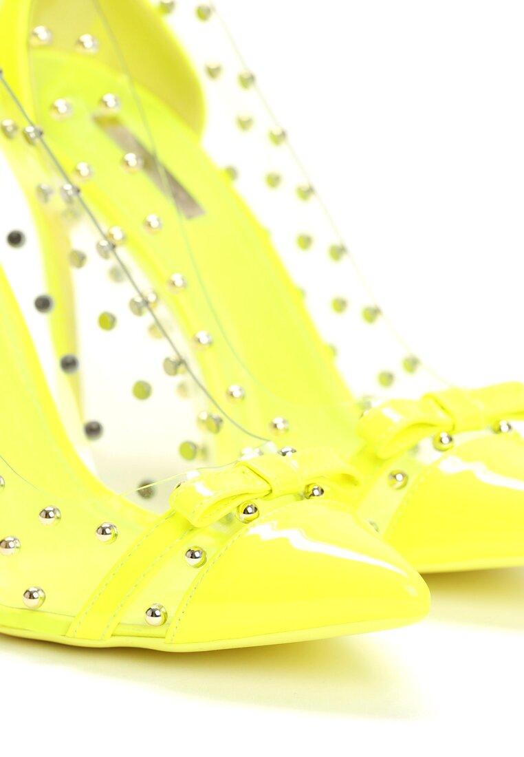 Limonkowe Szpilki Paws