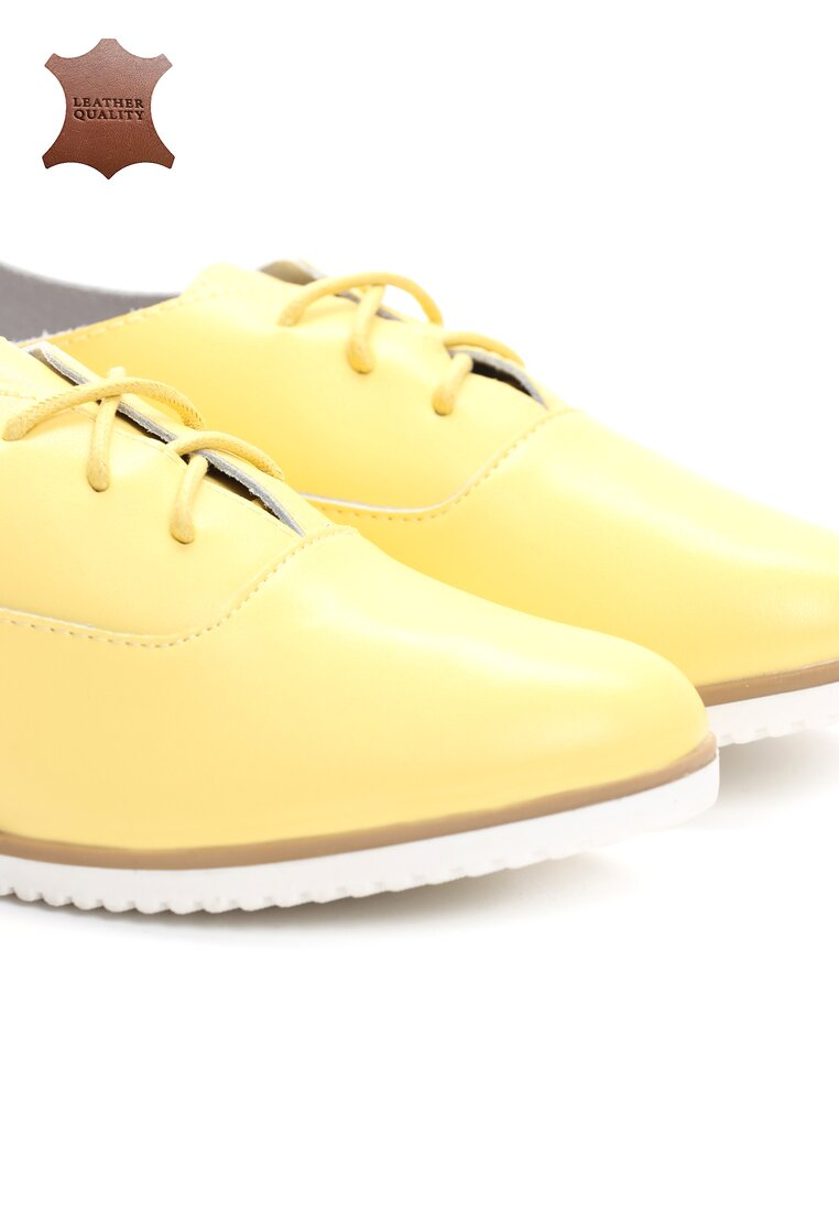 Żółte Skórzane Półbuty Blinding Lights