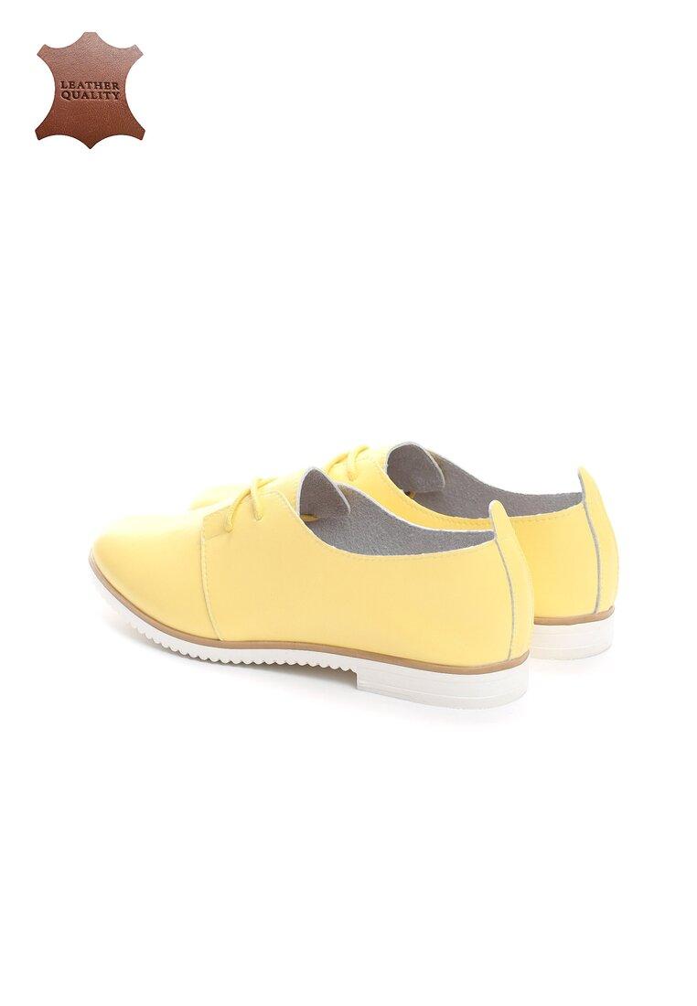 Żółte Skórzane Półbuty Nothin Promised