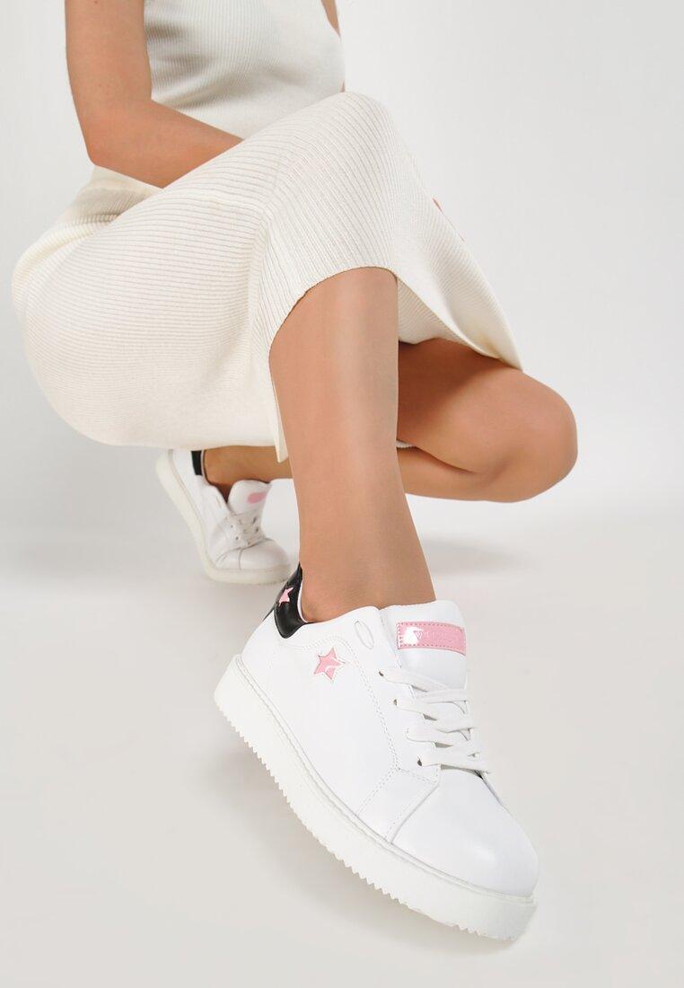 Biało-Różowe Buty Sportowe Missing You