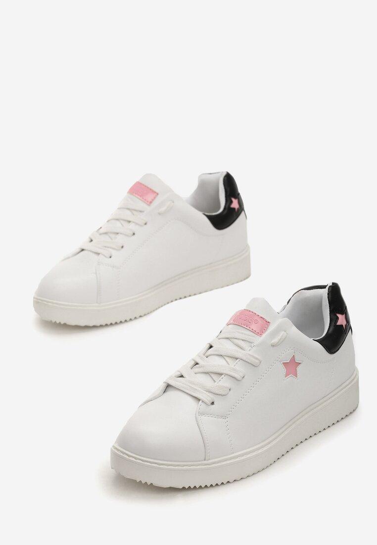 Biało-Różowe Sneakersy Missing You