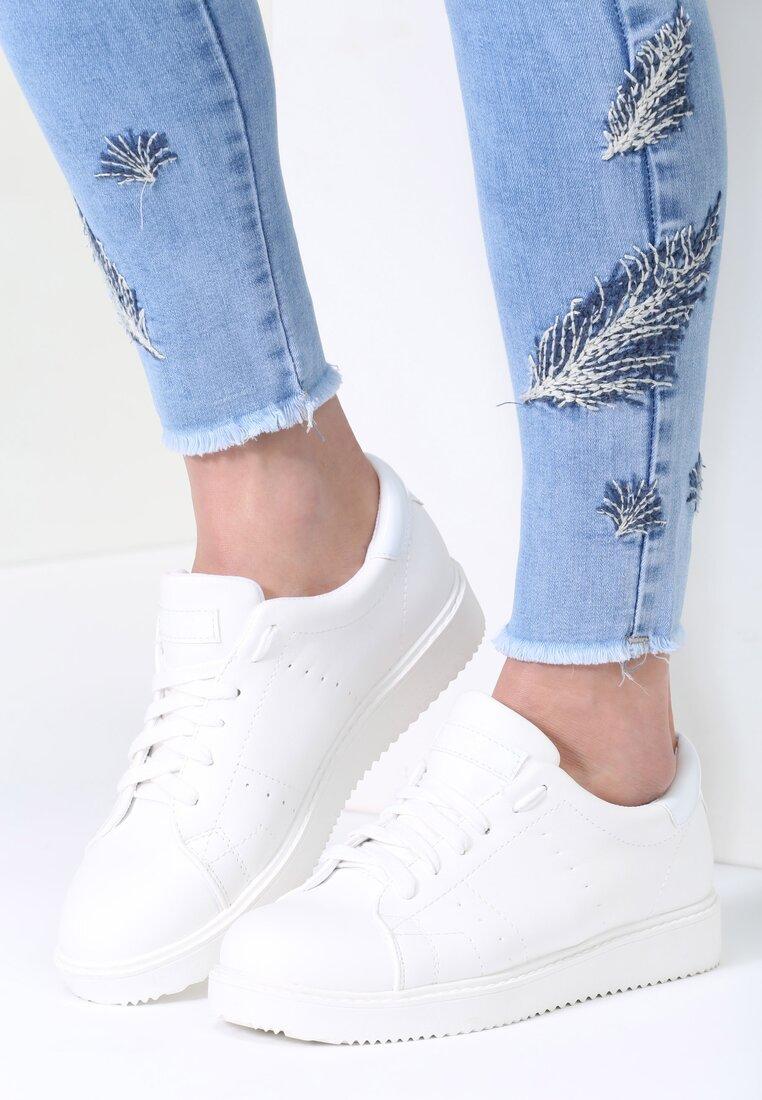 Białe Buty Sportowe Elastic Hands