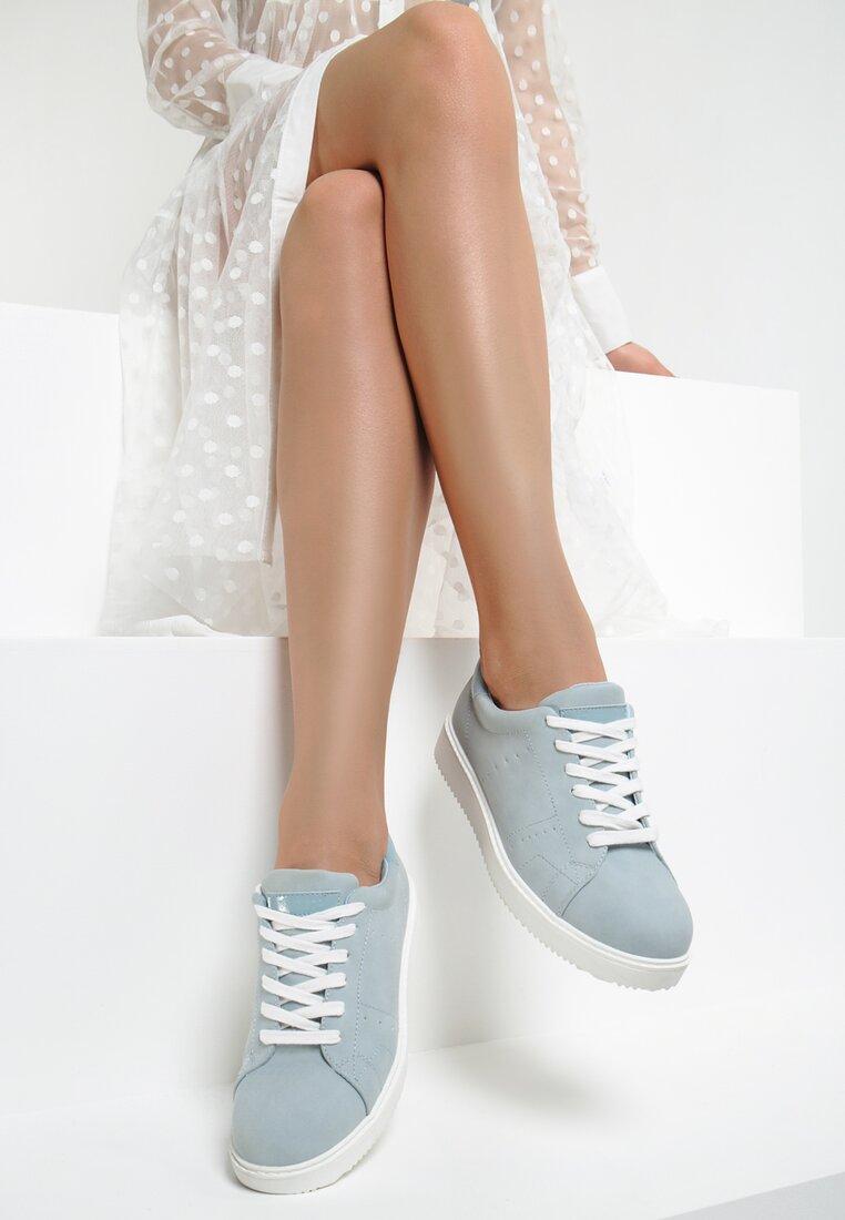 Niebieskie Buty Sportowe Elastic Hands