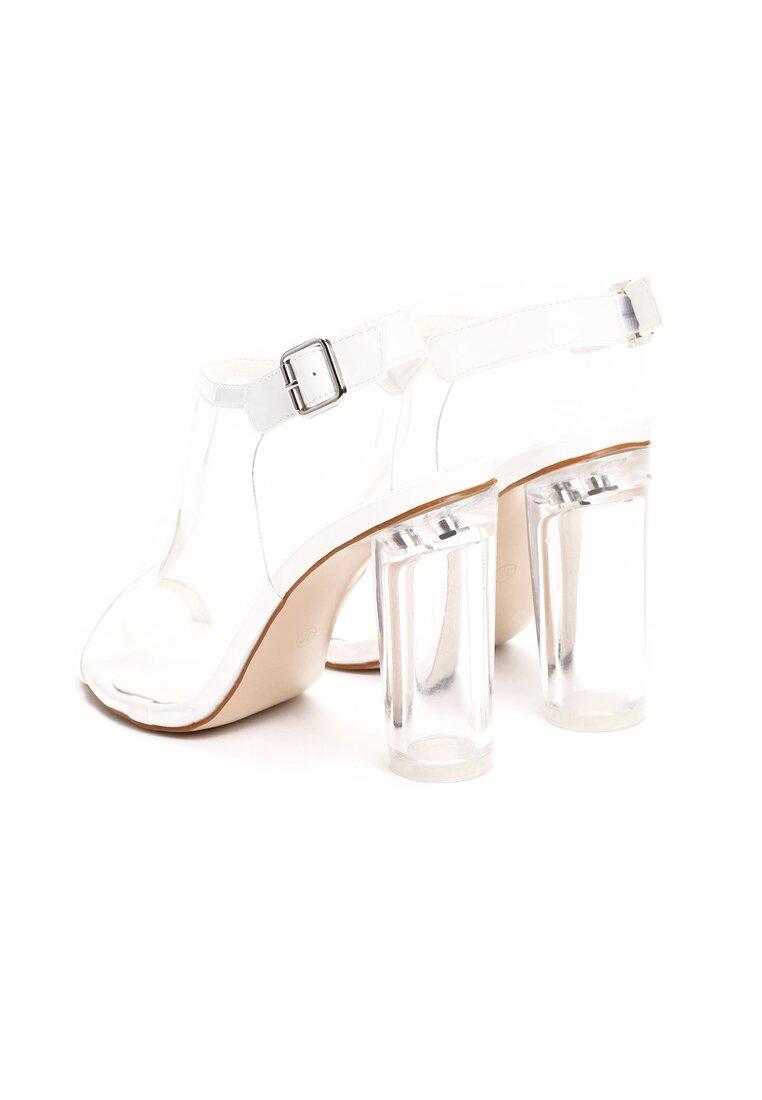 Białe Sandały Glass House