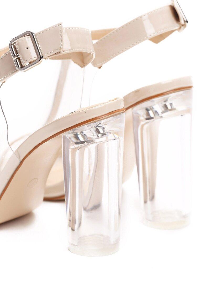 Beżowe Sandały Glass House