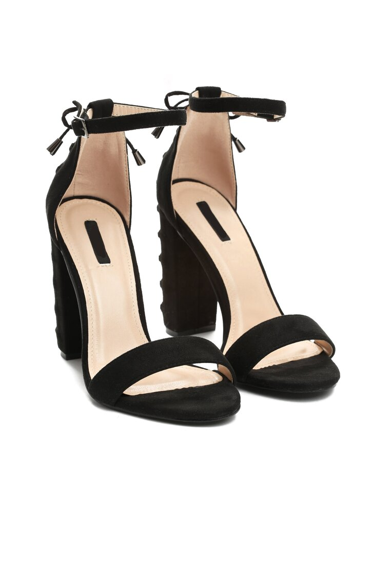 Czarne Sandały On Thin Ice