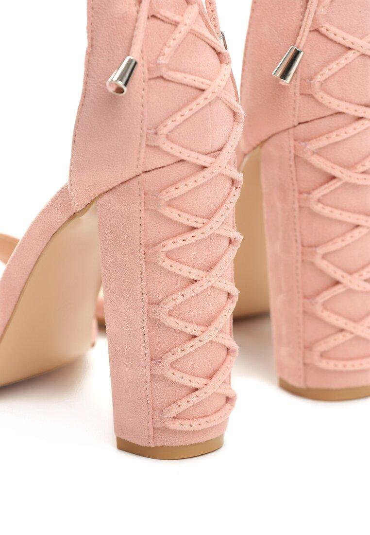 Różowe Sandały On Thin Ice