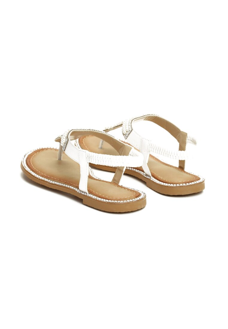 Białe Sandały To The Claskys