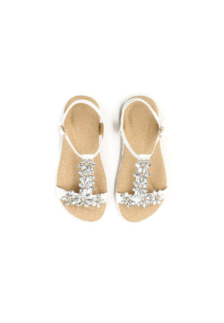 Białe Sandały Queens Tears