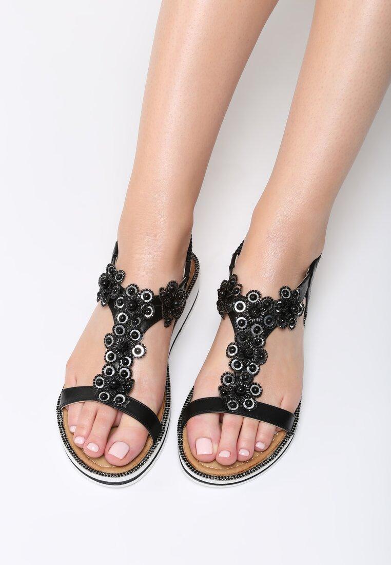 Czarne Sandały Anticipation