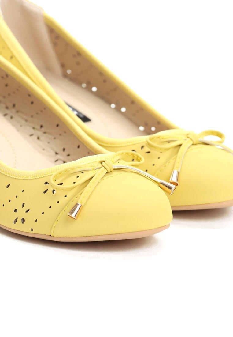 Żółte Koturny Sweatheart