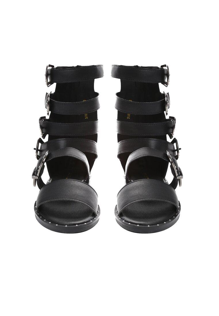 Czarne Sandały Black Lilie