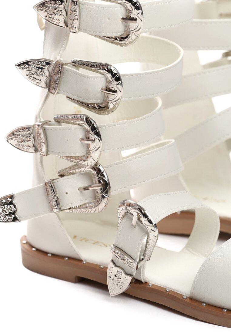 Białe Sandały Black Lilie