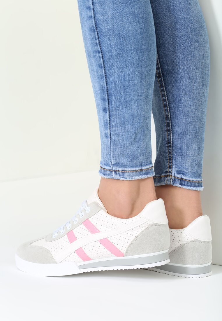 Białe Buty Sportowe Scintilla