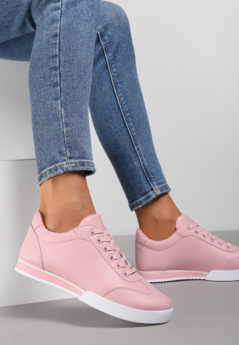 Różowe Buty Sportowe Turning Away