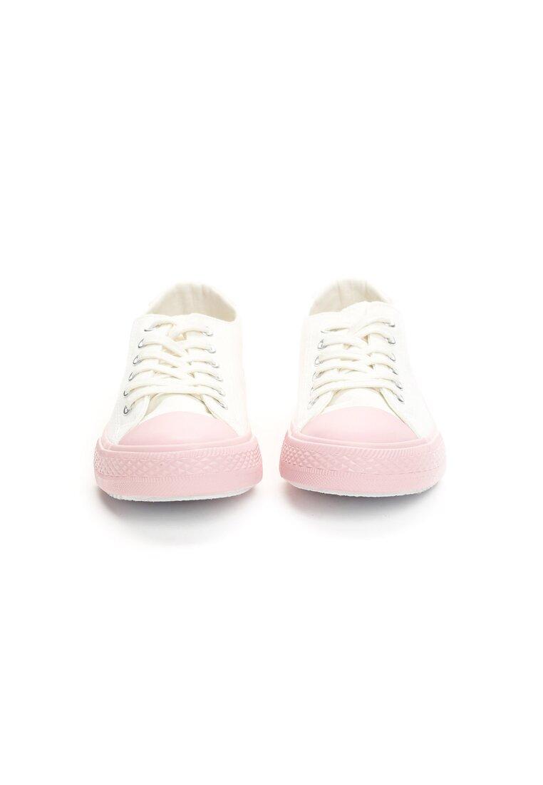 Biało-Różowe Trampki I Wish