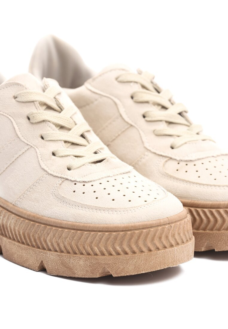 Beżowe Buty Sportowe Riparian Rights
