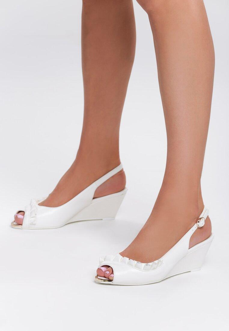 Białe Sandały You Can Look