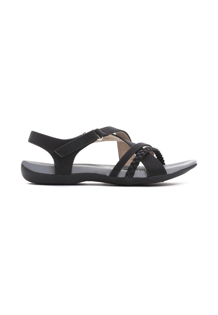 Czarne Sandały Swallow