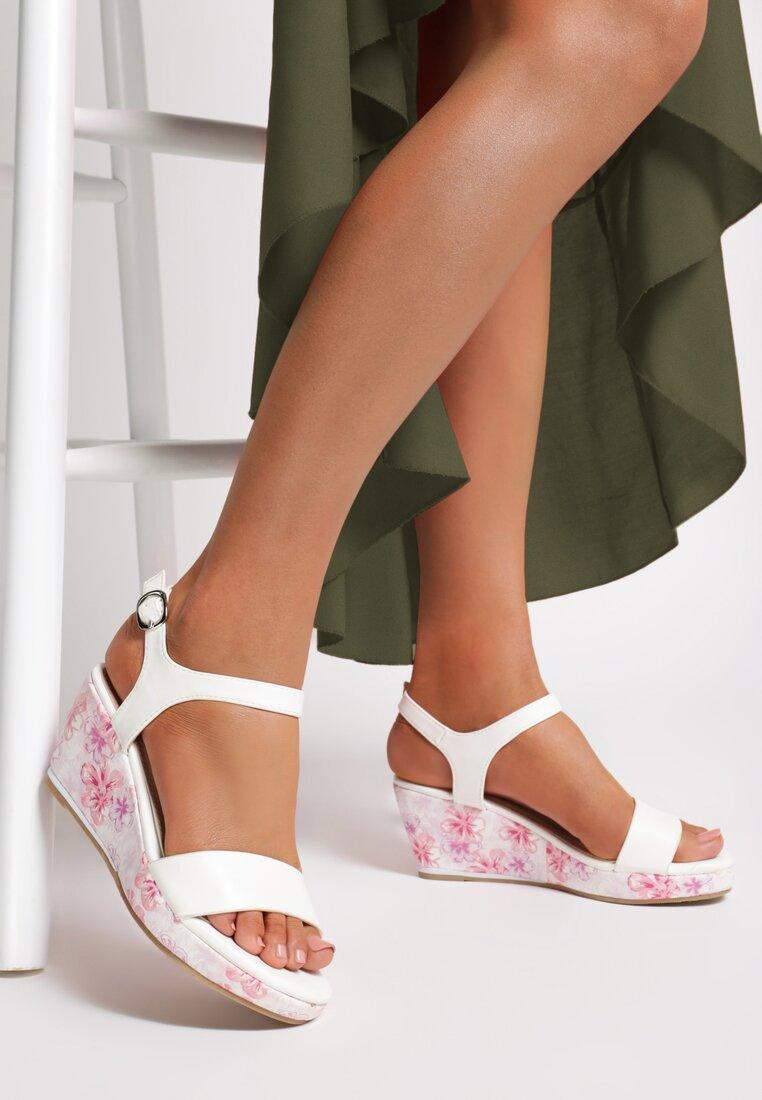 Biało-Różowe Sandały Little Things