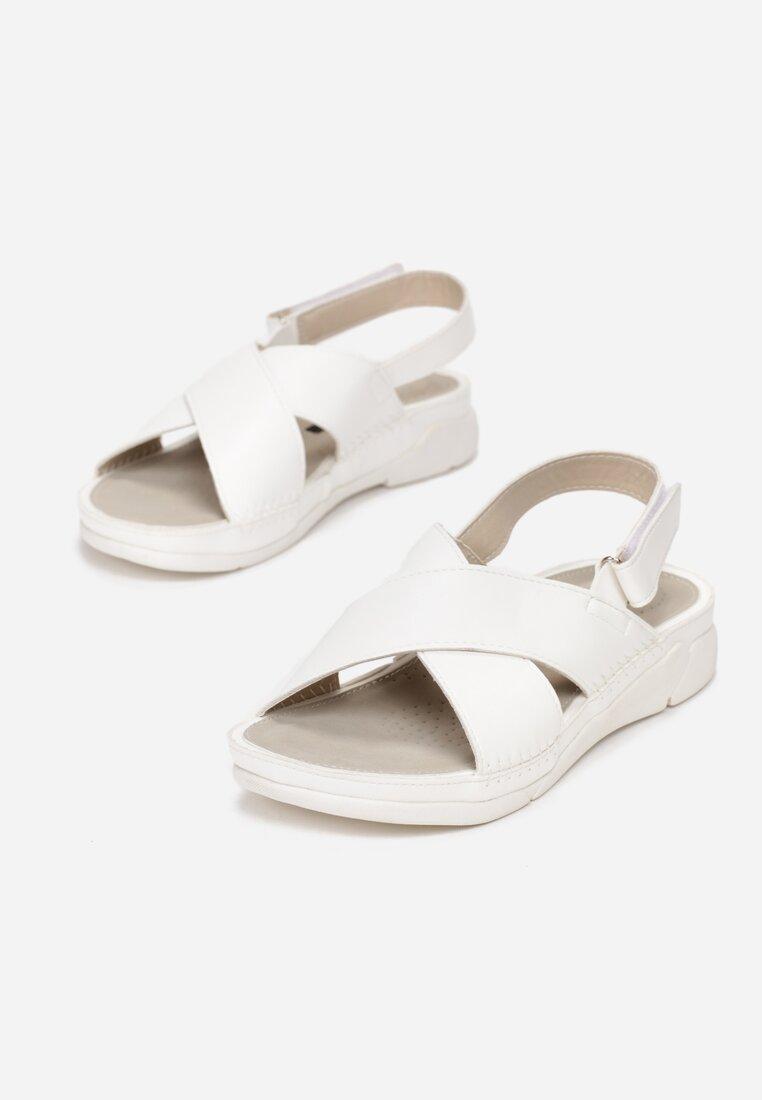 Białe Sandały Safe Place