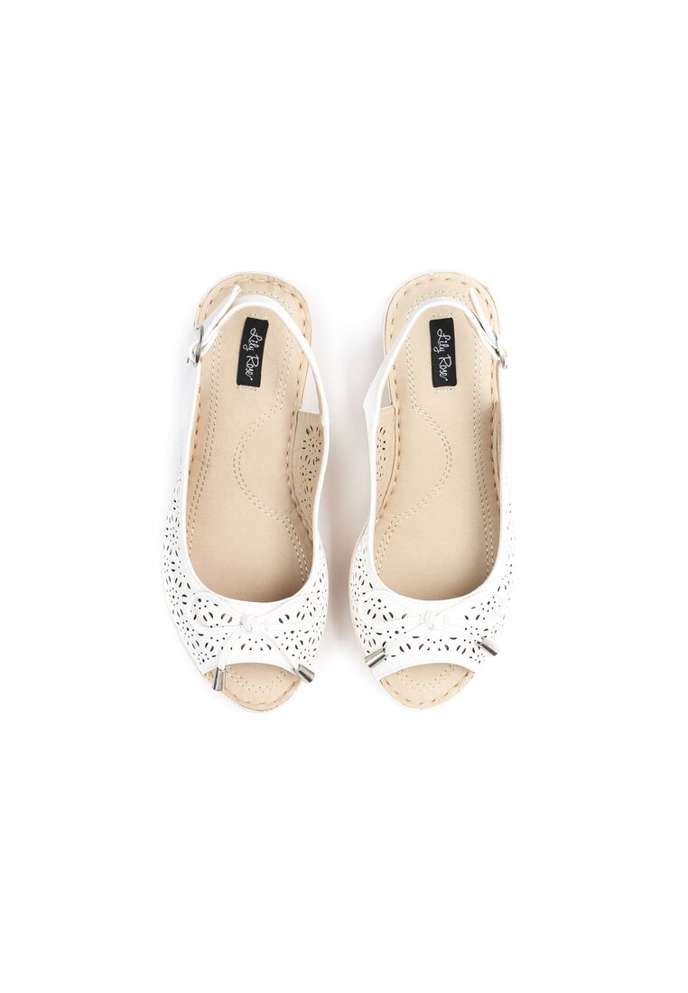 Białe Sandały Down On Love