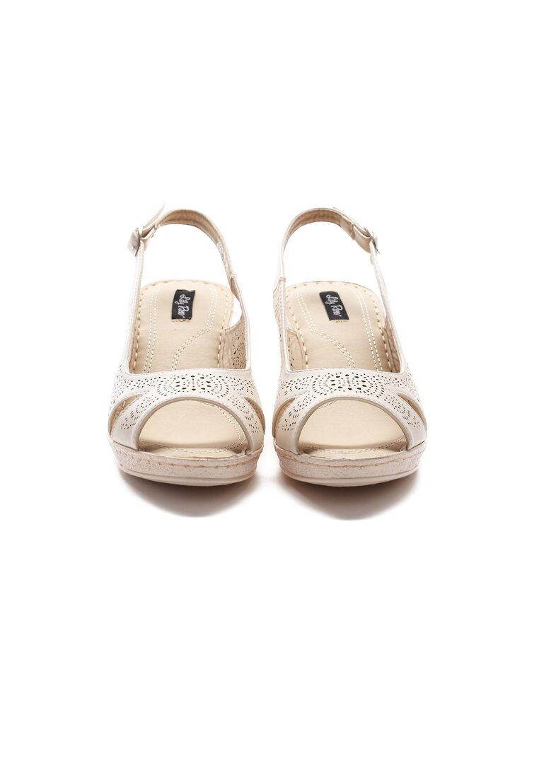 Beżowe Sandały That High