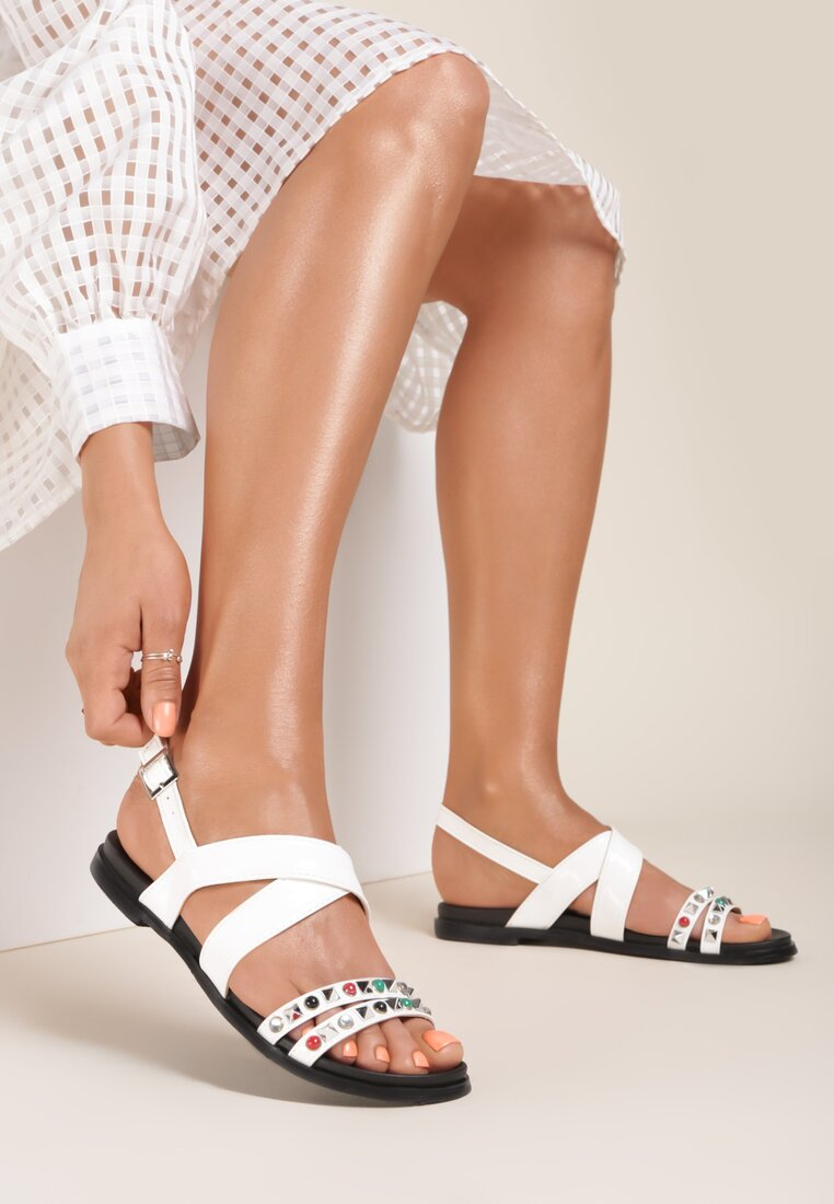 Białe Sandały Evergreen