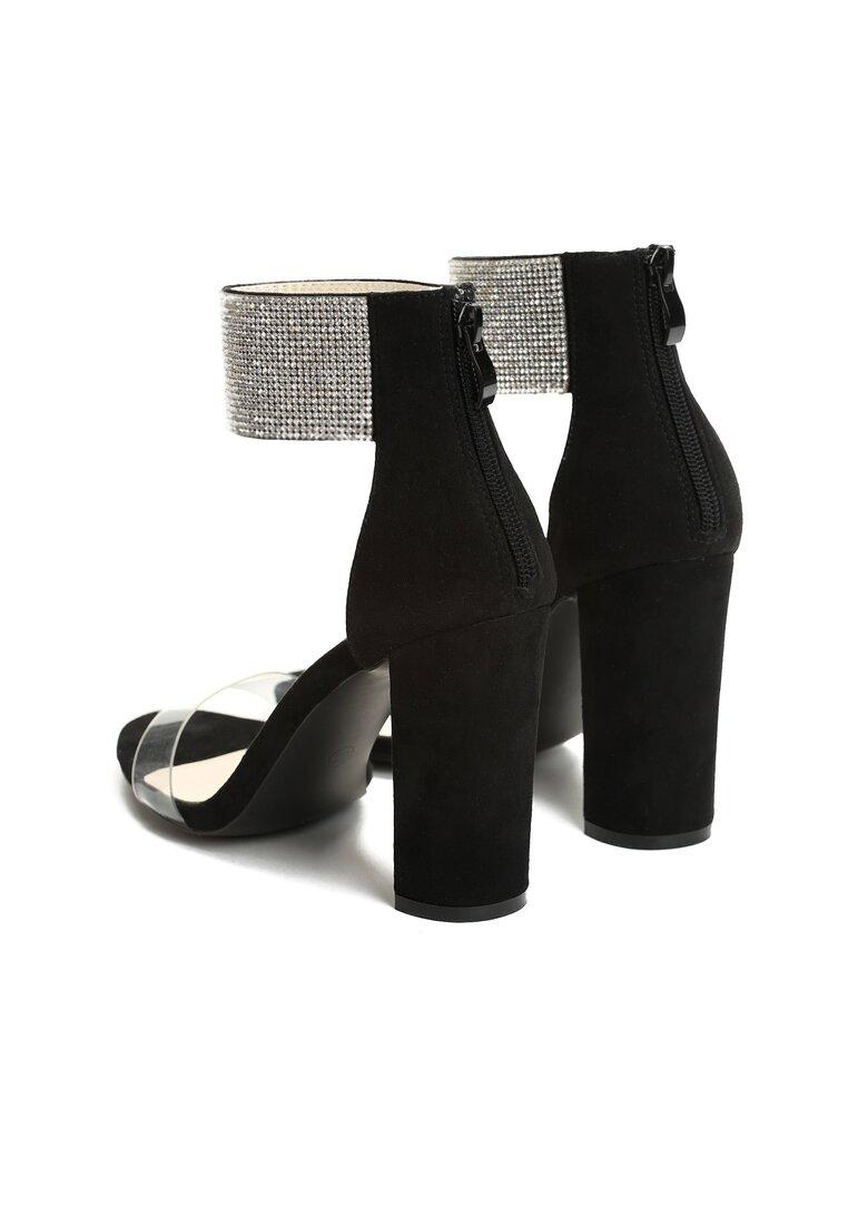 Czarne Sandały Sophisticated