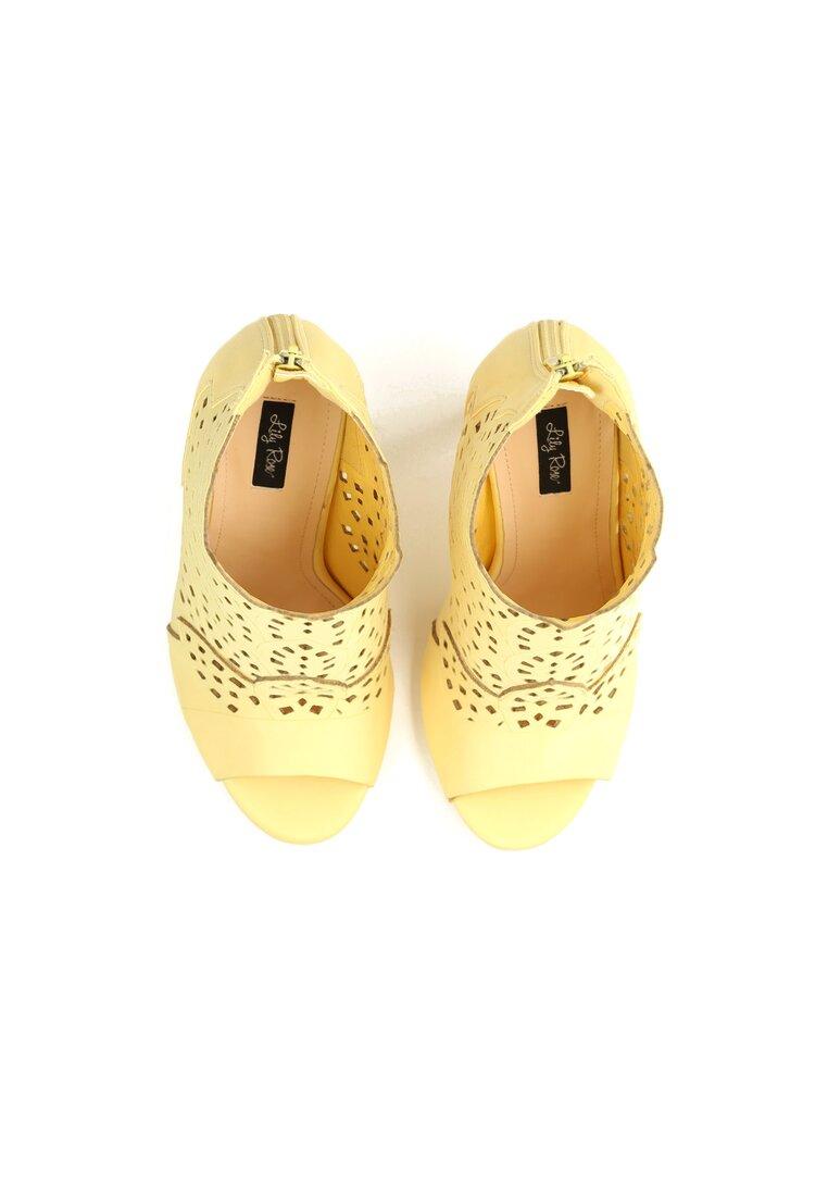 Żółte Sandały You Look
