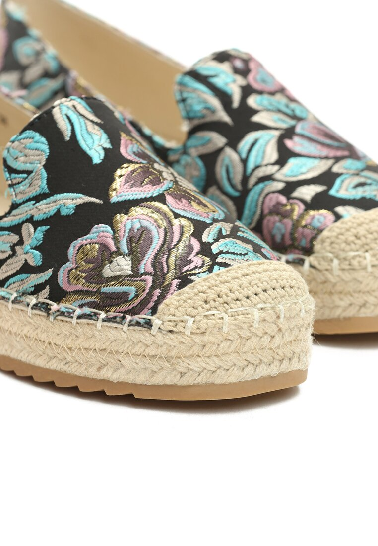 Czarne Espadryle Heaven's Now