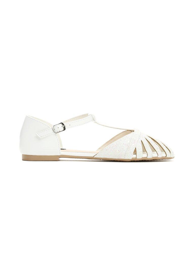 Białe Sandały Delighting Glow